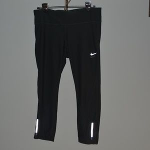 NIKE RUNNING womens black pants